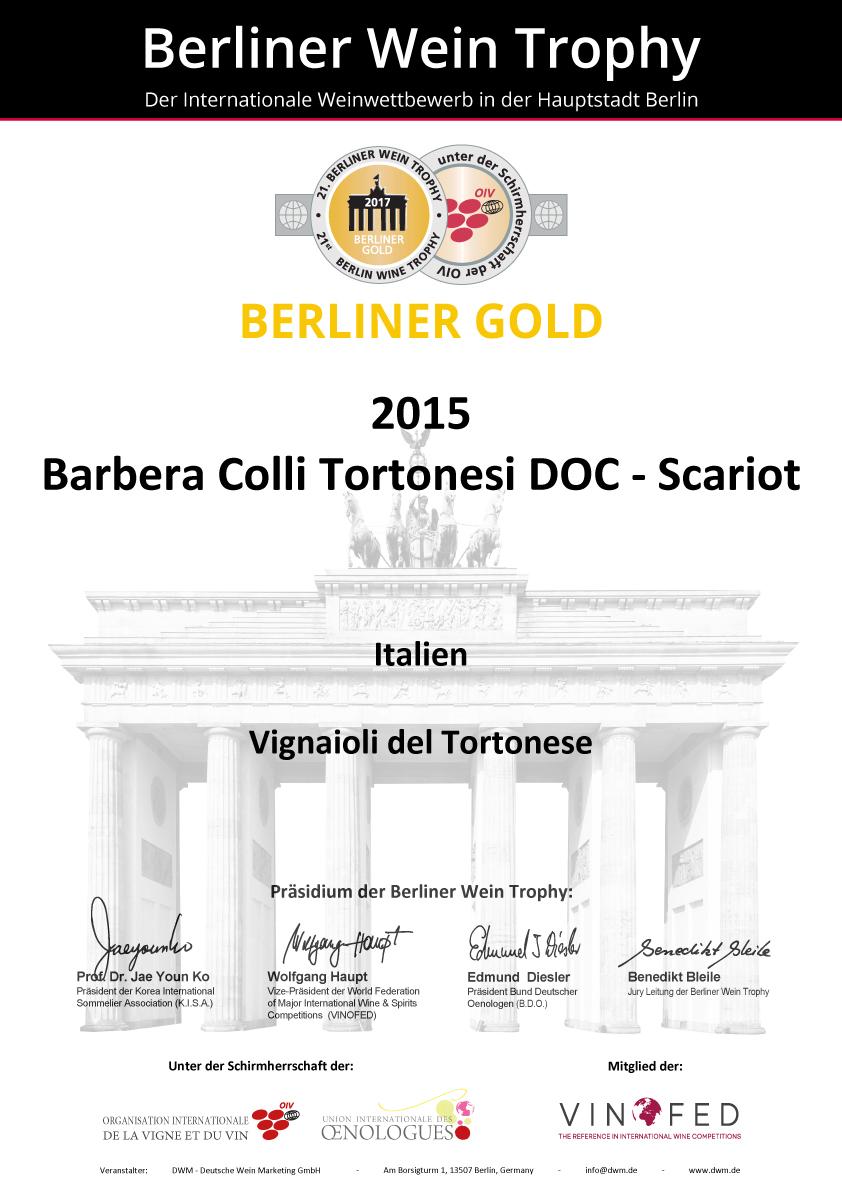 Medaglia d'oro al Berliner Wein Trophy
